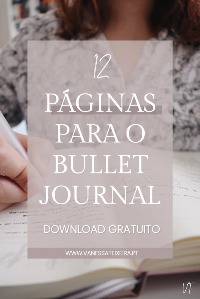 12 páginas para o bullet journal